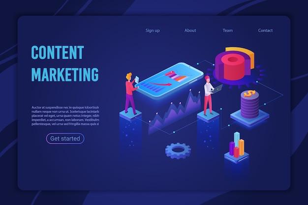 Content marketing strategy ultraviolet light landing page