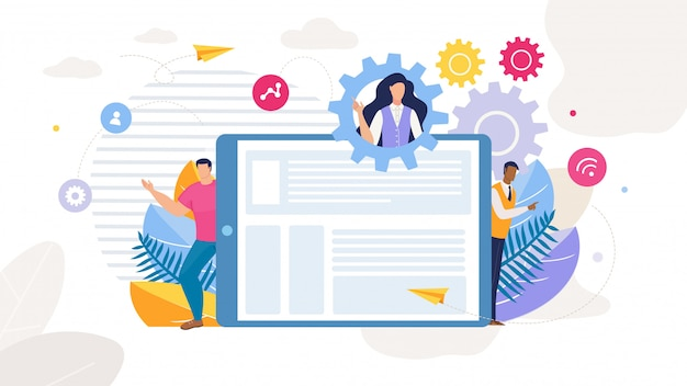 Content strategy marketing development cartoon