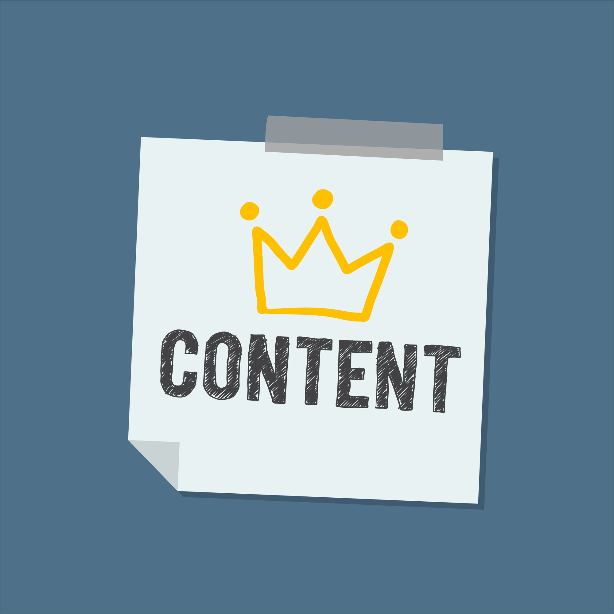 Content Word on note illustration