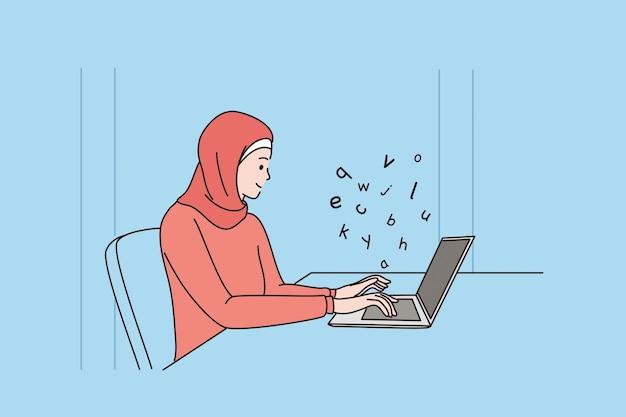 콘텐츠 작가 및 미디어 개념 작업