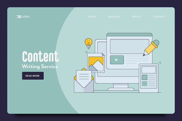 Content writing landing page