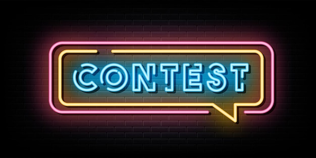 Contest neon sign neon symbol