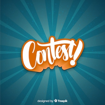 Contest time background with typography