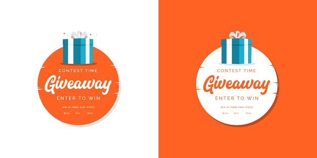 Contest time giveaway design template