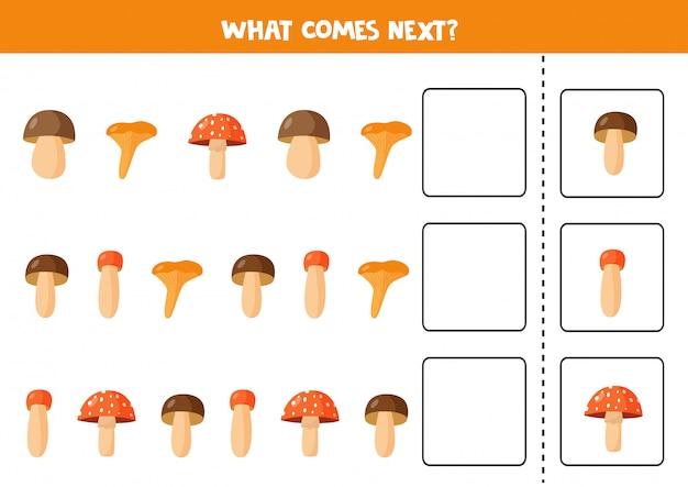 Продолжите последовательность с милыми древесными грибами. что будет дальше.