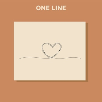 Continuous line drawing of heart icons  concept of love.