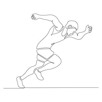 Непрерывный рисунок линии бегуна векторные иллюстрации