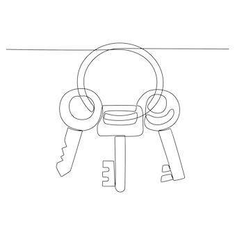 Непрерывный рисунок линии вектора виртуальной реальности