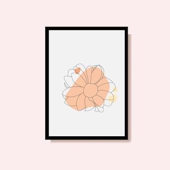 Роза непрерывного рисования линий