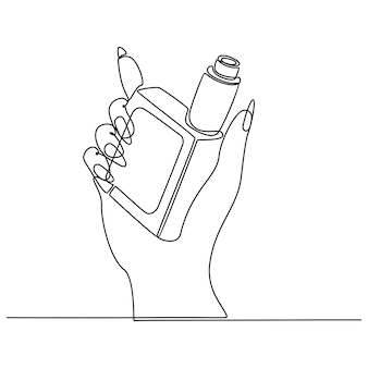Continuous line drawing of vape vector illustration