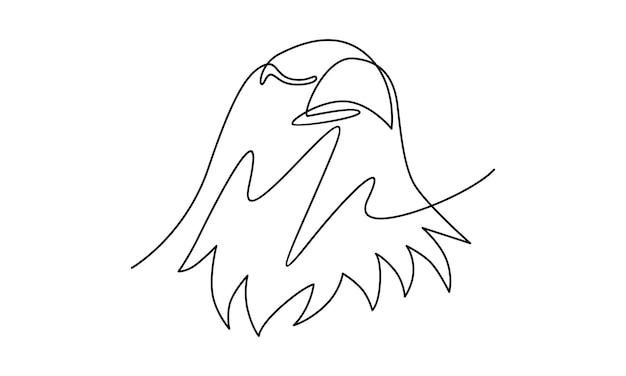 Непрерывная линия иллюстрации орла