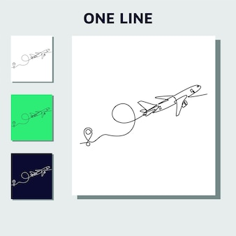 Continuous one line drawing concept