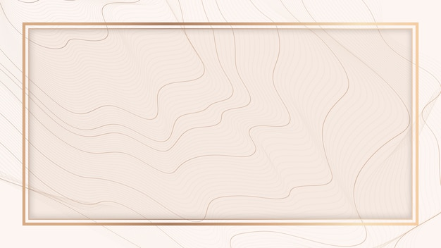 Contour line background frame