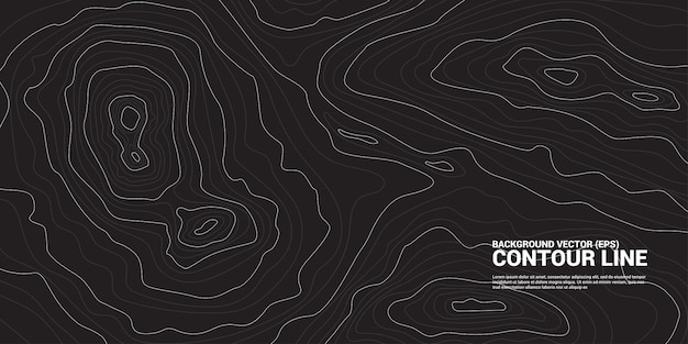 Contour line background graphic. concept of simple geography and terrain