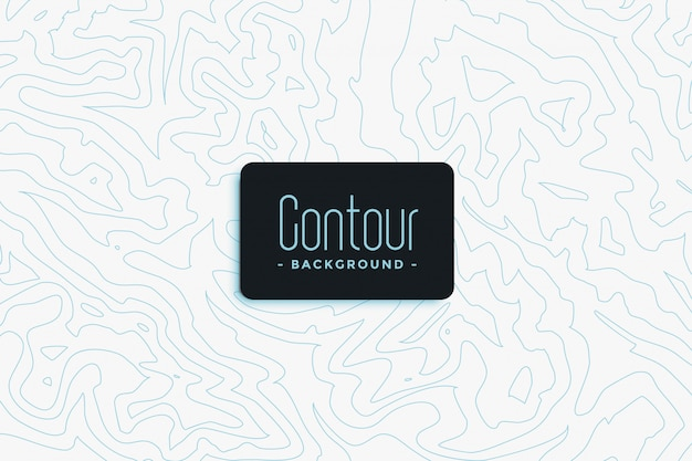 Contour topographic background
