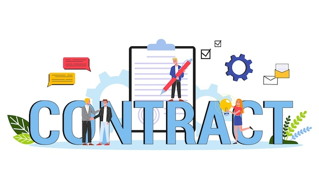 Contract concept. official agreement and the handshake