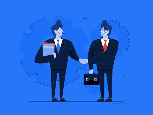 契約の概念。公式合意、パートナーシップのアイデア