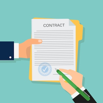 Contract in flat style