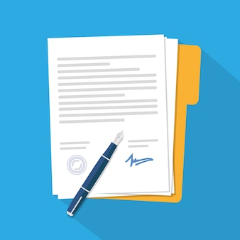 Contract icon agreement