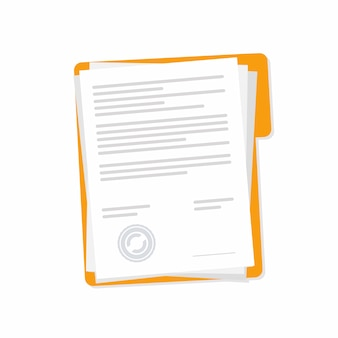 Contract papers design