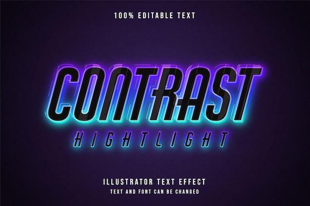 コントラストのハイライト、編集可能な3dテキスト効果。