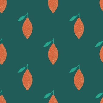 Contrast summer seamless pattern with vitamin orange lemons ornament. green background. stock illustration. vector design for textile, fabric, giftwrap, wallpapers.