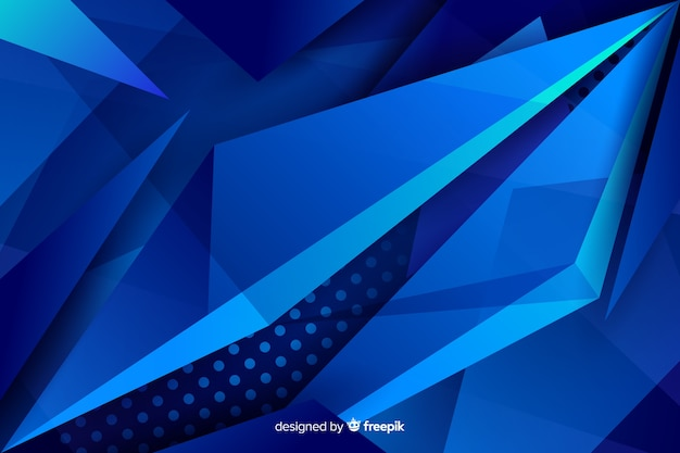 Contrasted blue shapes with dots background