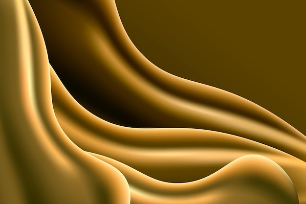 Contrasted smooth golden wave background