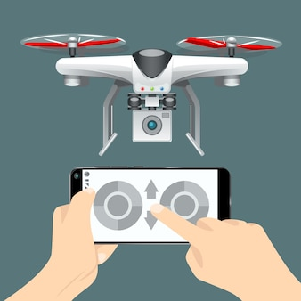 Control of the drone on the cellphone