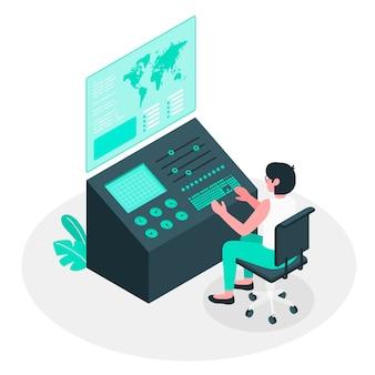Control panel concept illustration