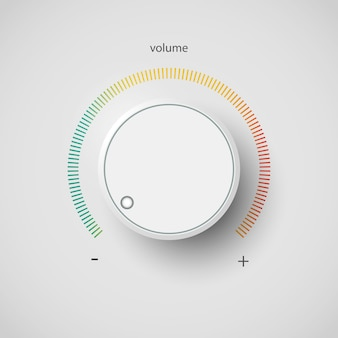 Control panel tumbler music audio sound volume knob button minimum maximum level
