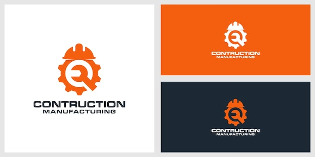 Contruction logo design premium