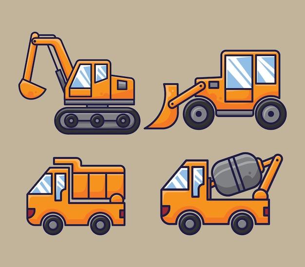建設車両フラットイラスト