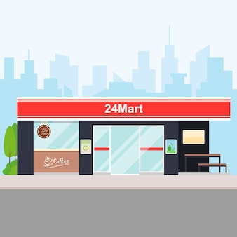 Convenience store in the city