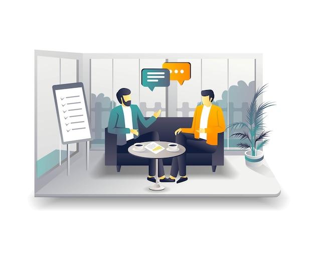 Разговор на террасе об инвестиционном бизнесе