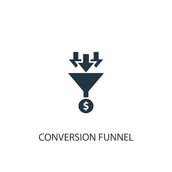Conversion funnel icon. simple element illustration. conversion funnel concept symbol design. can be used for web and mobile.