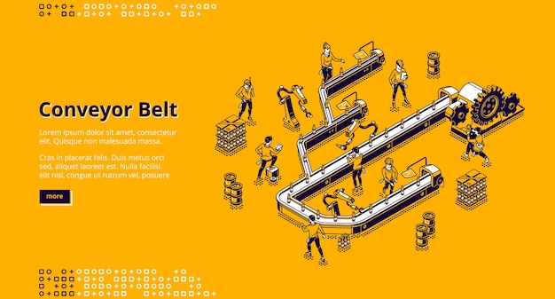 Conveyor belt at factory, plant or warehouse.