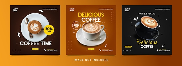 Cooffee banner design template