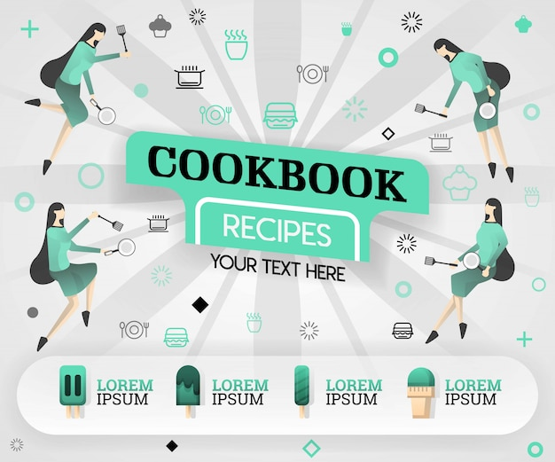 Cookbook simple book and green recipes