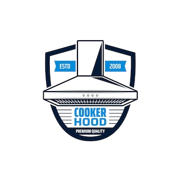 Cooker hood isolated icon of kitchen equipment