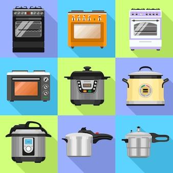 Cooker icon set
