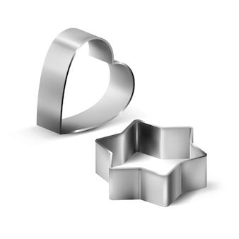 Cookie cutters metallic accessories set