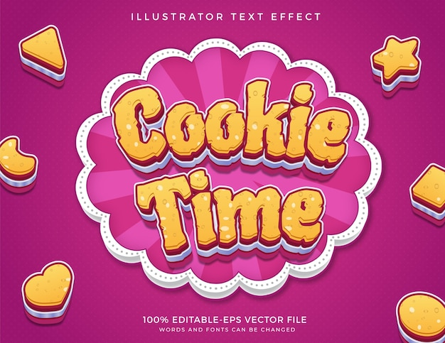 Cookie editable text effect