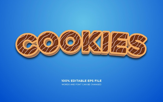 Cookie editable text style effect