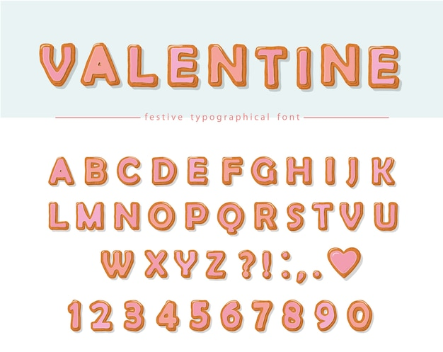 Cookie hand drawn decorative font.