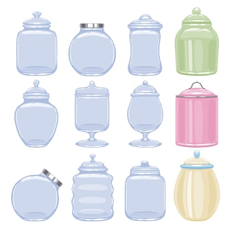Cookie jars set  illustration.