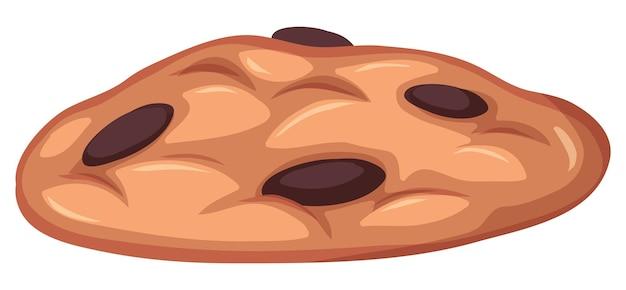 白い背景に分離されたクッキーの甘いデザート