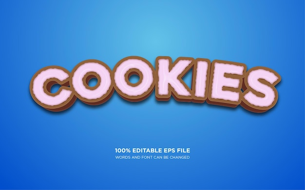 Эффект стиля текста cookie