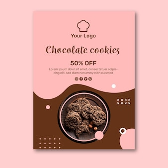 Cookies ad flyer template