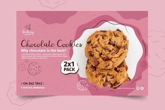 Cookies banner template with photo